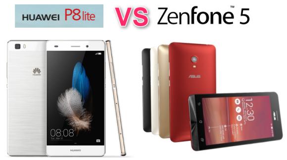 比較レビュー ZenFone5 and P8 Lite