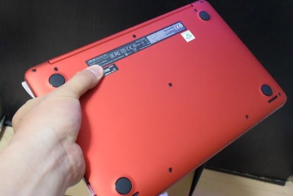 ASUS EeeBook X205TA-B 背面
