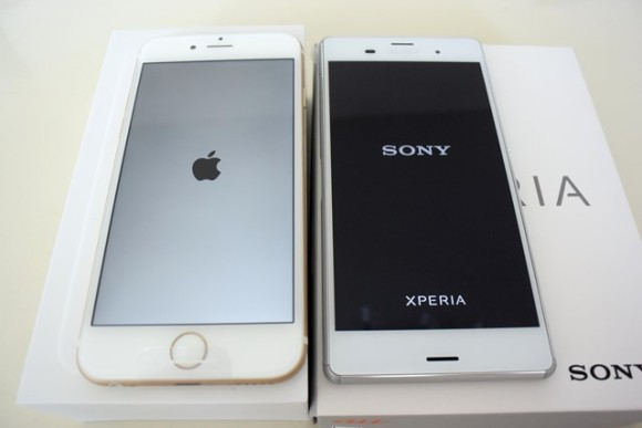iPhone6 vs XPERIA Z3 比較してみた