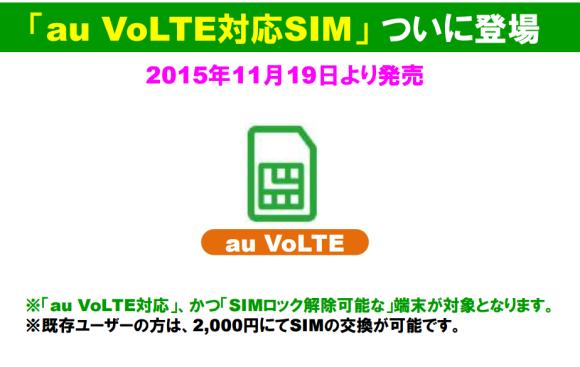 auのVoLTE端末がMVNOで使える!!mineoは11月19日から開始!
