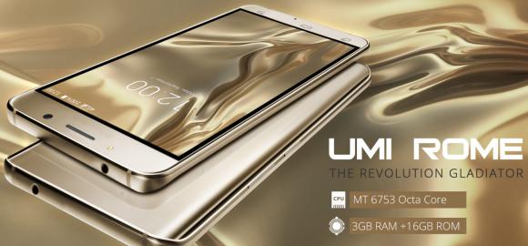 中国UMI、8コアCPU/RAM 3GB/5.5インチスマホ「ROME」を発売!価格なんと約1万円