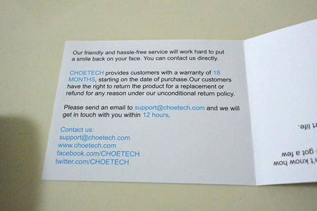 CHOETECH 大容量モバイルバッテリー レビュー