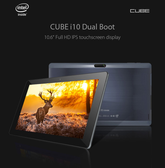 Cube I10 Android4.4 + Win10 Tablet PC