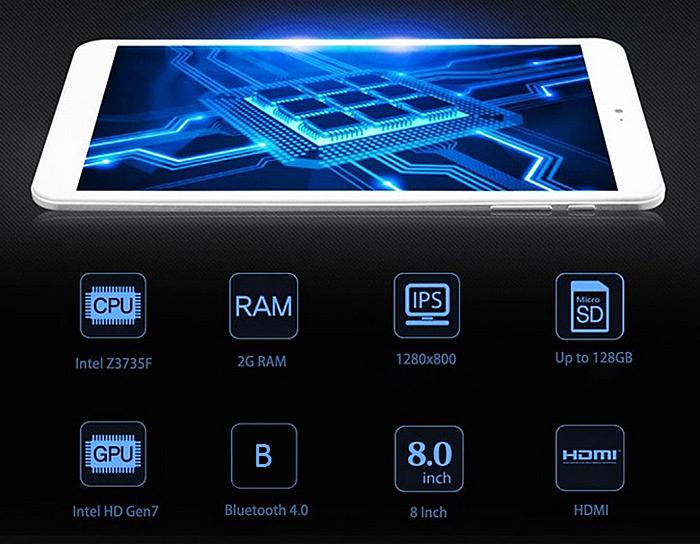 【セールで8,343円!】8インチ Win10+AndroidデュアルOSタブレット「Onda V820W」 が1万円以下のセール!