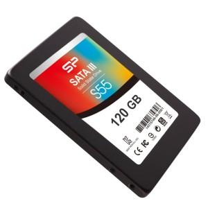 SP シリコンパワー SSD 120GB SATA3 6Gb/s 3K P/EサイクルMLC採用 3年保証 S55 2.5インチ (7mm) SP120GBSS3S55S25FR