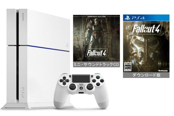 Amazon.co.jp限定】PlayStation 4 グレイシャー・ホワイト (CUH-1200AB02) +ダウンロード版『 Fallout 4』本編 (ミニ・サウンドトラックCD付)