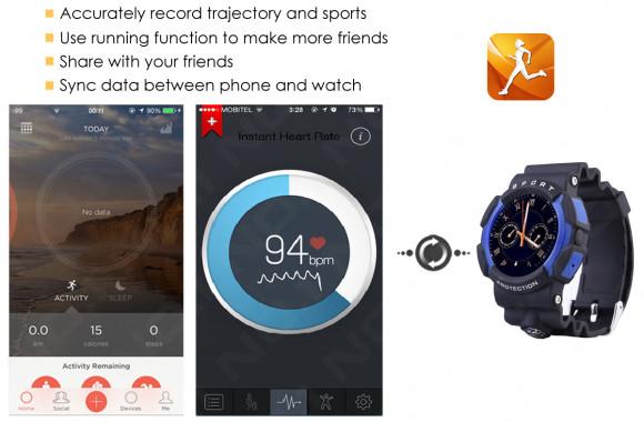 No.1 A10 rugged smart watch