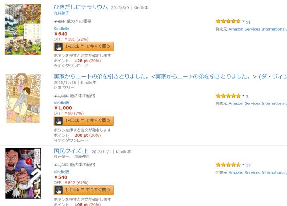 AmazonでKindle本が「最大20%ポイント還元セール」実施中~