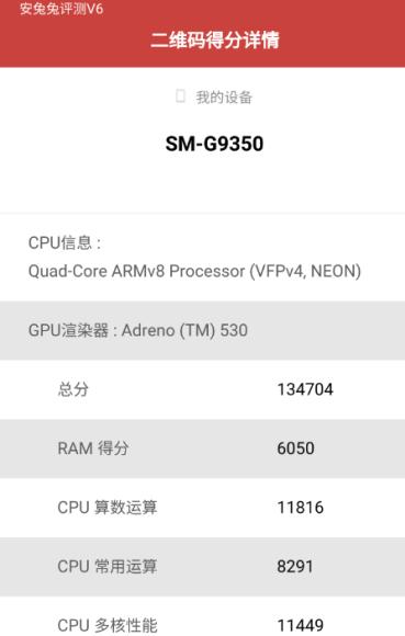 Galaxy S7/S7 Edge AnTuTuのベンチマークスコア