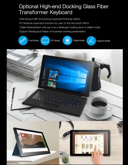 Cube i9 Windows 10 Ultrabook Tablet PC