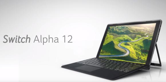 AcerがSurface対抗PC『Switch Alpha 12』を発表~Core i3搭載で599ドルから