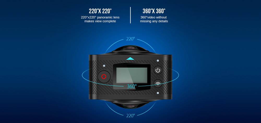【クーポン追加】360度全天球カメラが1万円台で登場~『Elephone Elecam 360 WiFi Action Camera』