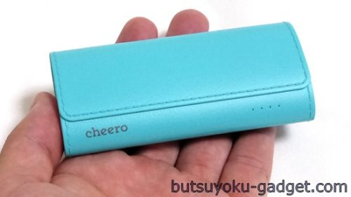 デザインと質感にこだわった『cheero Grip 4 5200mAh モバイルバッテリー』レビュー