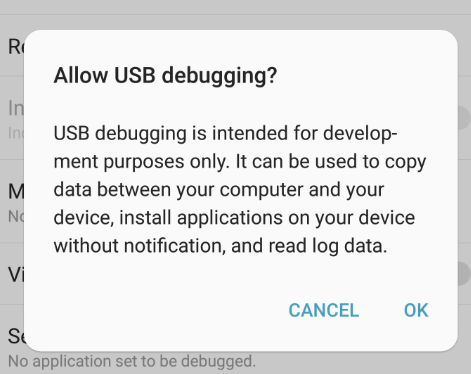 Galaxy Note7 USB Debugging