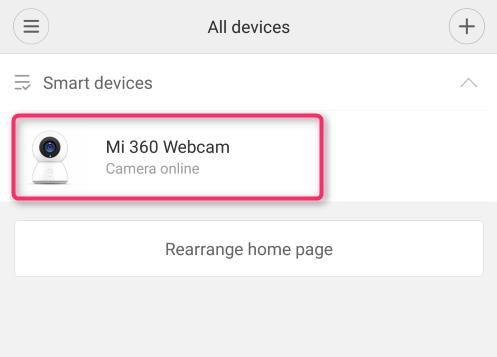 XiaomiのワイヤレスIPカメラ『Xiaomi MiJia 360° Home Camera』実機レビュー Mi Home