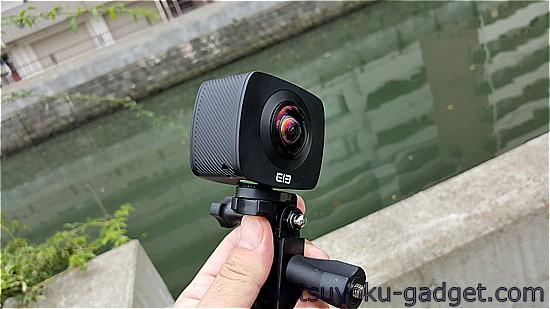 【実機レビュー:後編】360度カメラ『Elephone Elecam 360 WiFiアクションカム』レビュー!アプリインストール~撮影してみた