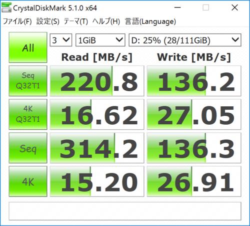 Inateck SATA-USB 3.0 変換アダプタケーブル UA1003 Intel SSD 330 ベンチマーク