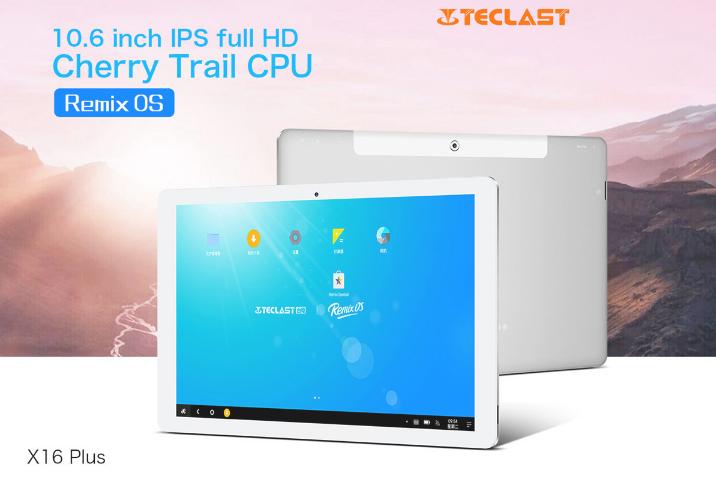 安価な10.6インチフルHD タブレット『Teclast X16 Plus』のRemix OS版が発売!