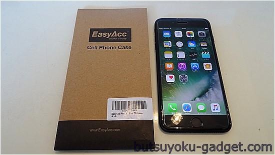 iPhone7 Plus用 EasyACC製激安TPUカバーとガラス液晶保護フィルムを使ってみた