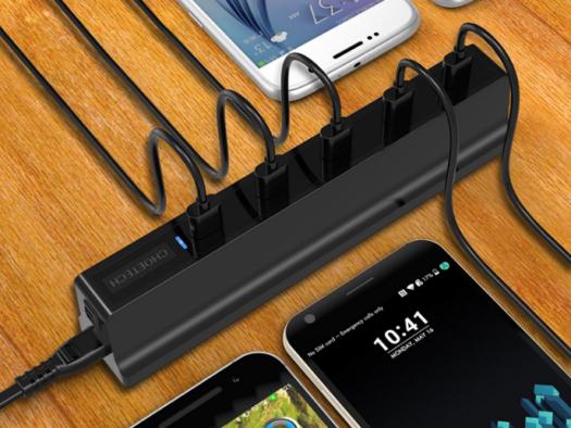 縦に挿せるのが使いやすい! 『CHOETECH Quick Charge 3.0 x5ポートUSB急速充電器』を使ってみた