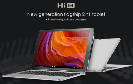 【クーポンで277.99ドル】驚愕の3K解像度 13.5インチでディスプレイ『CHUWI Hi13』発売!4スピーカー/Celeron搭載2in1タブレット