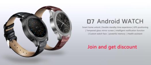 【69.99ドルでセール】わずか80ドルの大人なAndroidスマートウォッチ『DT NO.1 D7』が発売!