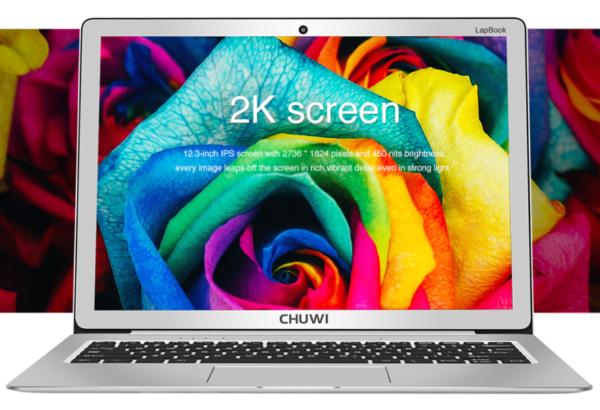 【クーポンで289.99ドル!】6GB RAMと2K解像度ディスプレイ搭載でSSD増設可なWin10ノートPC『CHUWI Lapbook 12.3』が発売