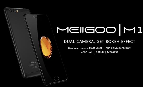 日本のdocomo LTE B19に対応した5.5インチスマホ『Meiigoo M1』が発売! Helio P20/6GB  RAM/デュアルカメラ搭載で2.3万円~