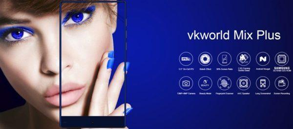 【クーポンで99.99ドル】1万円強で買える3面狭額縁スマホ『vkworld Mix Plus』が発売! 格安スマホにもデザインを取り入れた意欲作