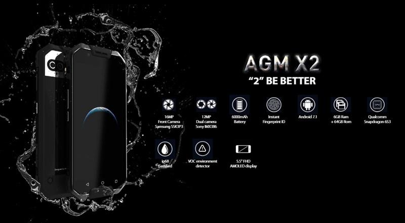 【セールで450ドル】スナドラ653+docomo LTE B19対応タフネススマホ『AGM X2/X2 SE』がなかなかいい! デュアルカメラ/IP68防水防塵対応