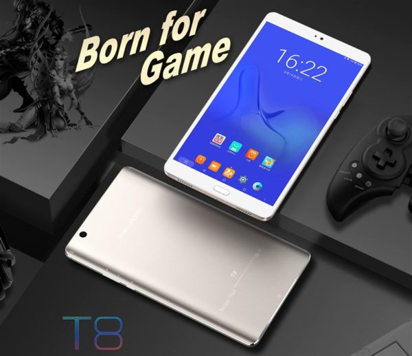 【クーポンで195.99ドル】8.4インチ2K解像度ミドルスペックタブレット『Teclast T8』発売! ホームボタン+指紋認証付で使いやすさUp