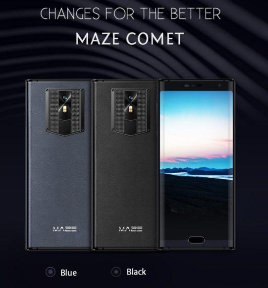 デザイン重視の18:9縦長ディスプレイ+背面レザー『MAZE COMET』が発売!