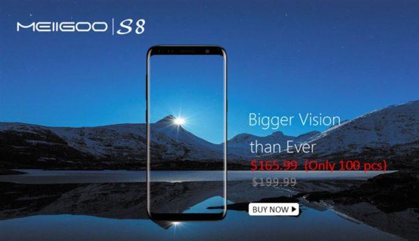 6.1インチ『MEIIGOO S8』が発売記念で165.99ドルでGeekbuyingセール中~