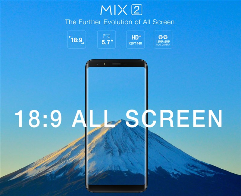 99.99ドルでギフト付!低価格5.7インチ縦長ディスプレイスマホ『Ulefone MIX 2』が発売!