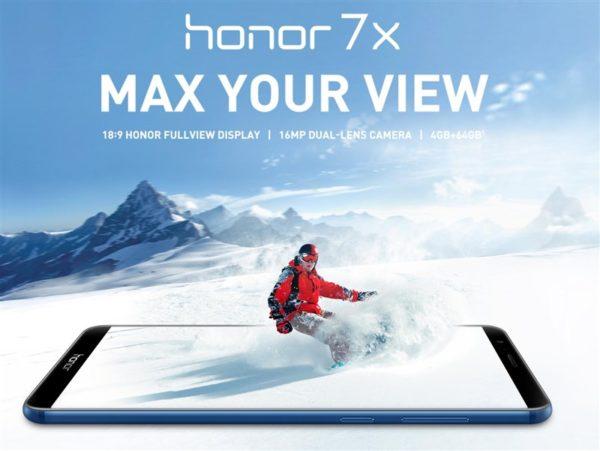 【クーポンで220ドル】ハイコスパ5.93インチスマホ『HUAWEI Honor 7X』発売! Mate 10 Liteとほぼ同じなのにたったの200ドル!