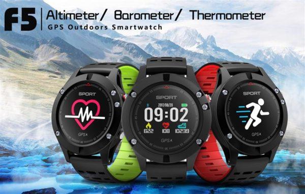 GPS内蔵で連続使用12時間のGPS/スマートウォッチ『DTNO.1 F5』が発売~GPSウオッチが50ドル台と激安