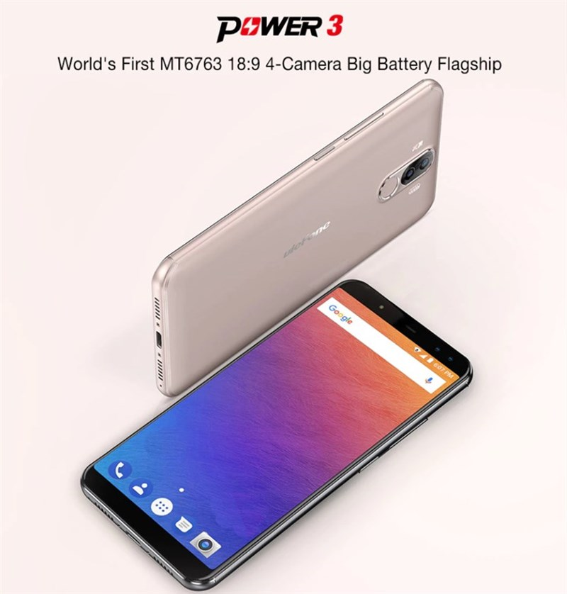【セールで219.99ドル】大容量バッテリースマホ『Ulefone Power 3』が大幅進化! 縦長6.0インチでHelio P23のミドルレンジスマホに!