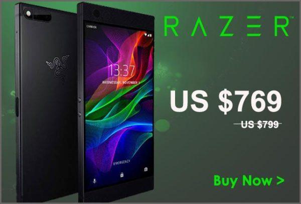 【セールで30ドルOFF】ゲーミングスマホ『RAZER Phone 64GB』がETORENで発売!B19対応/8GB RAM/120Hz駆動ディスプレイと超ハイエンド