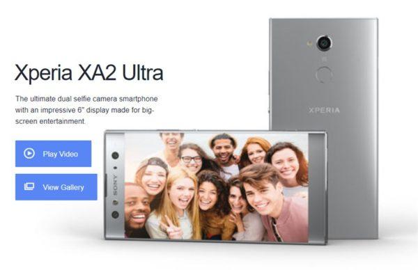 6.0インチ「XPERIA XA2 Ultra」発表!フロントデュアルカメラ採用で進化も残念な点もあり