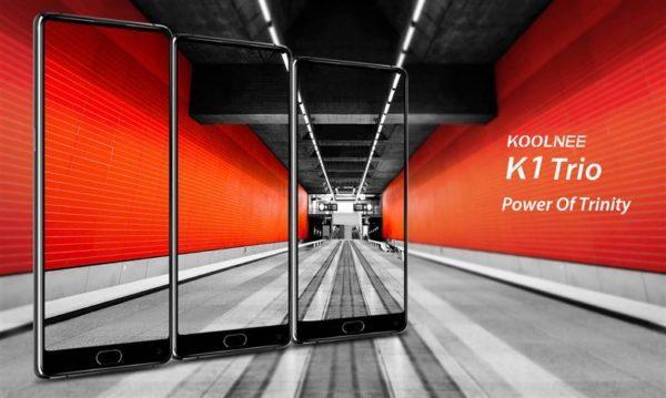 【セールで229.99ドル】6.01インチのHelio P23搭載ミドル機『KOOLNEE K1 Trio』発売!ホームボタン+指紋認証リーダーありの利便性配慮デザインが好き
