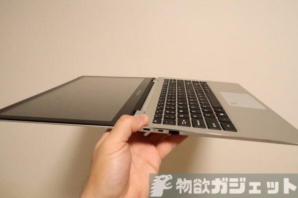 Core m3/8GB RAM/128GB SSDの快適PC『TECLAST F6 Pro』実機レビュー! 13.3インチの極薄ボディで軽量&360度回転は便利