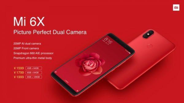 【319.99ドルでセール】スナドラ660「Xiaomi Mi 6X」発売! AIダブルレンズカメラ搭載のハイコスパスマホ