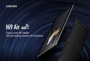 【クーポンで192.99ドル】シャープ製10.1インチ2K解像度タブレット『CHUWI Hi9 Air』発売! 10コアのHelio X20搭載~