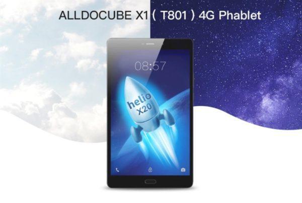 【クーポン追加】8.4インチ2K解像度Androidタブレット『ALLDOCUBE X1』発売! Helio X20搭載でホームボタンもUSB Type-Cもあり