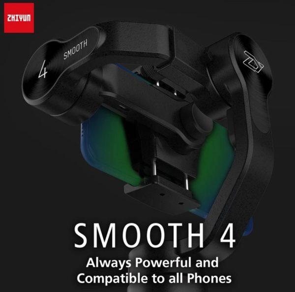 【103.99ドルクーポン追加】低価格多機能スマホジンバル「Zhiyun Smooth 4 」発売!