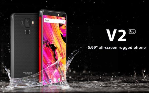【249.99ドル!】デザイン重視のLTE B19対応タフネススマホ『Vernee V2 Pro』発売! 18:9縦長ディスプレイ、大容量バッテリー搭載