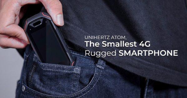 Unihertz Jellyに続く超小型タフネススマホ『Atom』がKickstarterでクラウドファンディング出資開始! 219ドル~