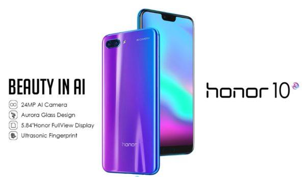 【358.15ドルクーポン追加!】ハイエンドハイコスパ! HUAWEI 『honor 10』発売中! 4G B19対応/P20とほぼ同性能で400ドル前後で激安