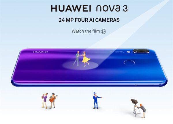 6.3インチノッチスマホ『HUAWEI nova3』発表~ハイエンドKirin970+前後ダブルでクアッドカメラ搭載