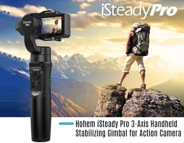 送料無料で日本より4000円ほど安く買えるぞ! アクションカメラ用 3軸ジンバルスタビライザー「Hohem iSteady Pro」がセール中